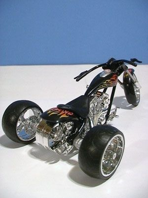 Read More About Trike conversions and Trike conversion kits, Custom Motorcycle Trikes: Santiago Chopper Cafe Racer, and Norley Cafe Racer...