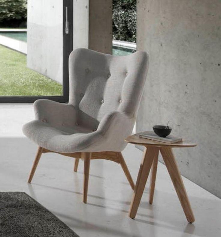 Contemporary scandinavian design side table in solid wood #homedecor #interiordesign #angelcerda #furniture #interiors #style #design