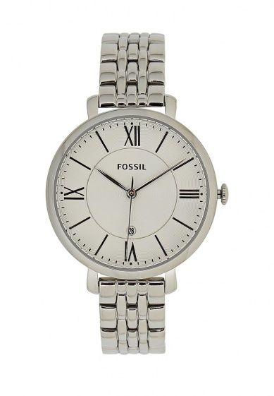 Женские часы с кварцевым механизмом от Fossil выполнены из серебристой стали. Детали: центральная...