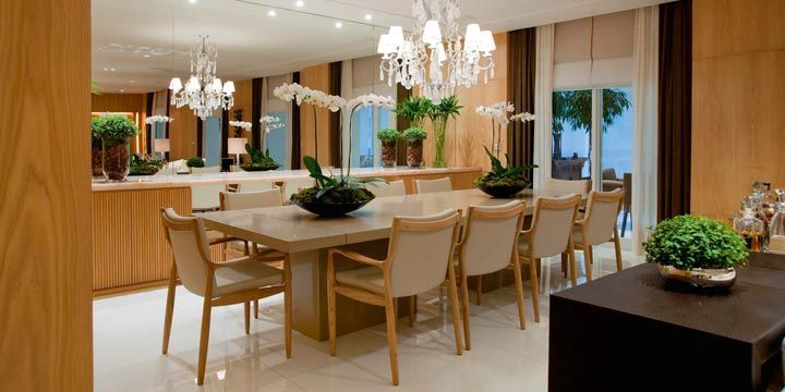 ESPELHO + APARADOR sala jantar debora aguiar