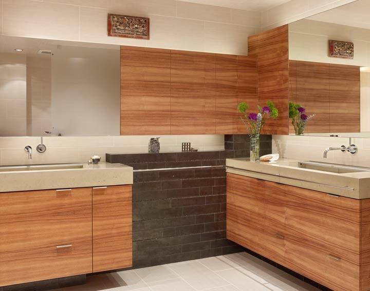 Master Bathroom Concrete Countertops   SF High Rise Renovation By Fu Tung  Cheng