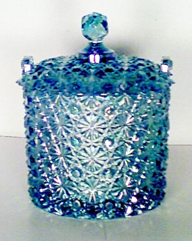 "Fenton ""Buttons & Bows"" Blue Satin Covered Candy Dish. WOW!"