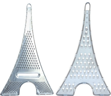 The Eiffel Tower transformed into a handy cheese grater. Bon Appetit!