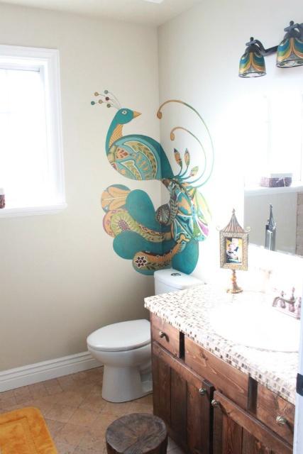 About peacock themed bathroom on pinterest peacock bathroom peacock