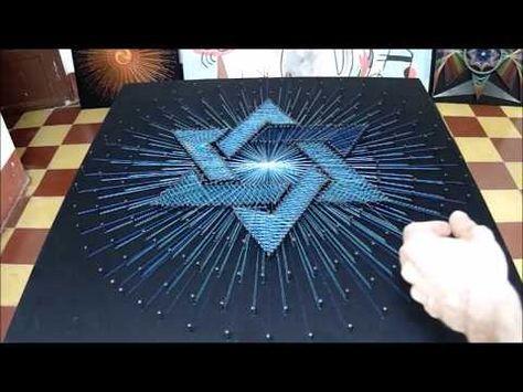 string art estrella de david hilorama cuadro con hilos tensados - YouTube