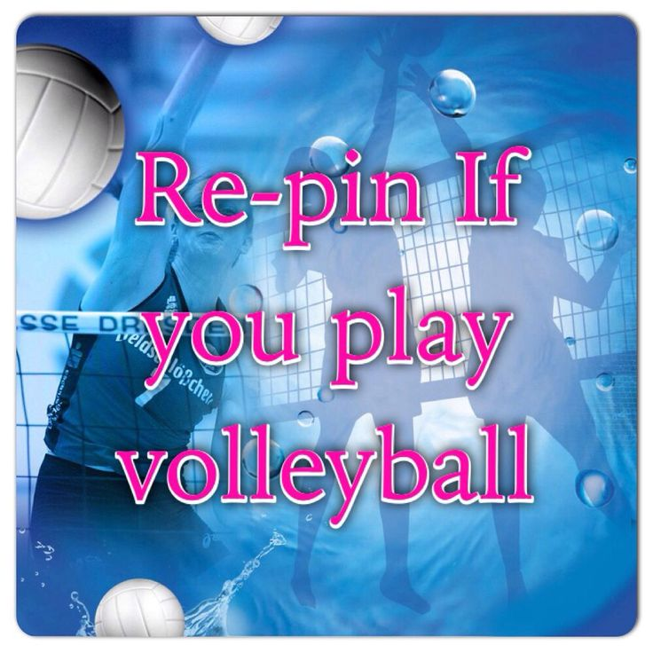Love volleyball repin  if u play