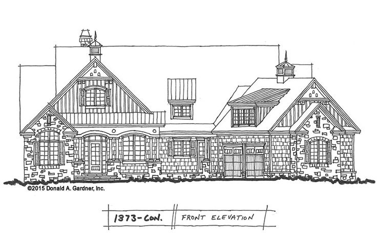 Conceptual design 1373 family friendly craftsman plan for Board and batten ranch house