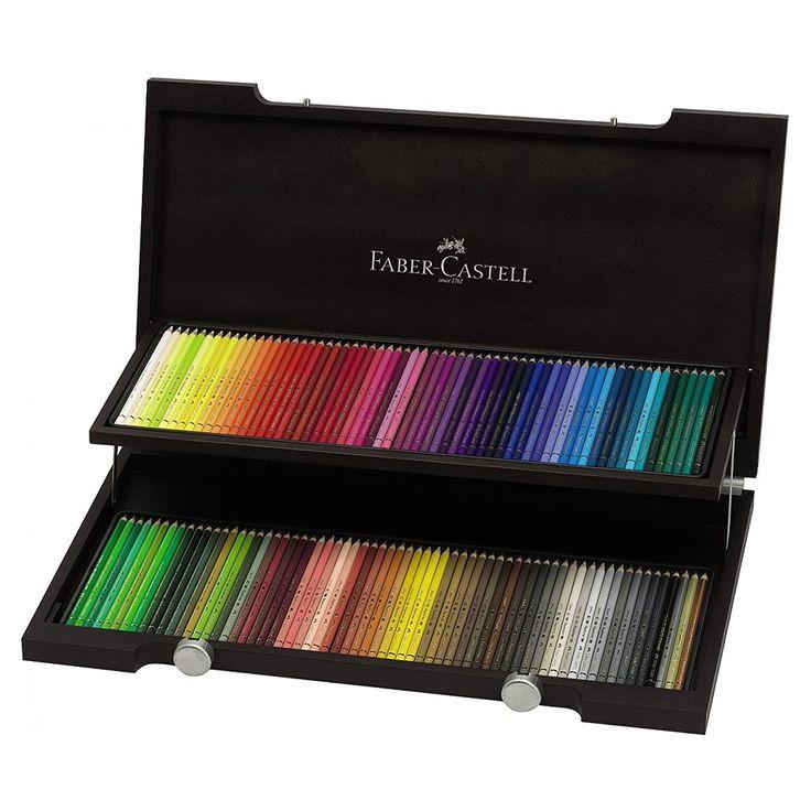 Amazon.com : Polychromos 120 Pencil Wood Box Set : Office Products