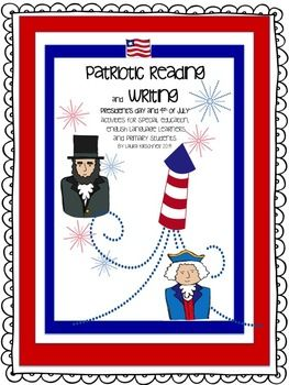 Flash Freebie! I'm in the TPT Newsletter! Patriotic Reading and Writing/President's Day