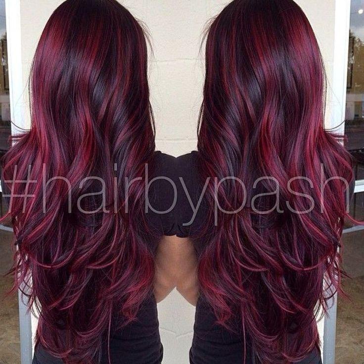 Burgundy highlights hair hues pinterest burgundy highlights burgundy highlights hair hues pinterest burgundy highlights hair coloring and hair style pmusecretfo Gallery