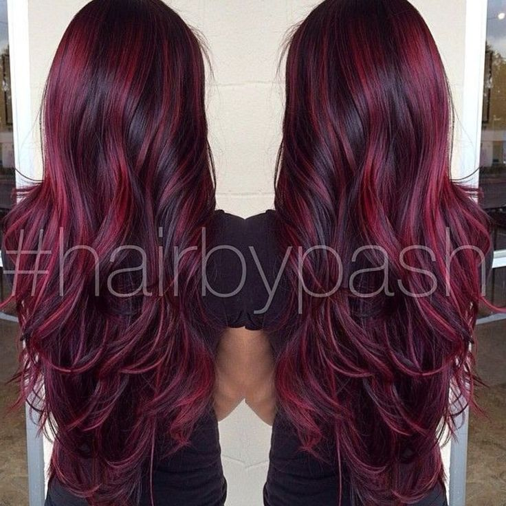 Burgundy highlights