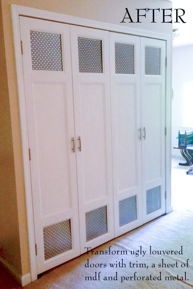 Diy Bi Fold Closet Door Makeovers Closet Door Makeover