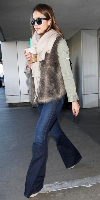 Jessica Alba - Jet-Set in Style: 22 Celebrity-Inspired Outfits to Wear on a Plane - Celebrity Life, etc. - Celebrity - InStyle