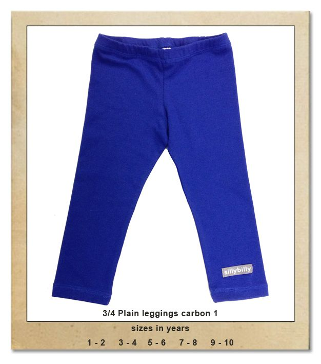 Sillybilly© clothing:  3/4 plain leggings carbon 1