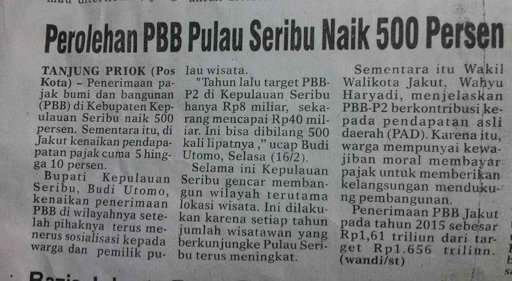 Perolehan PBB Pulau Seribu Naik 500 Persen