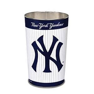 new york yankees mlb 15 inch wastebasket trash can new