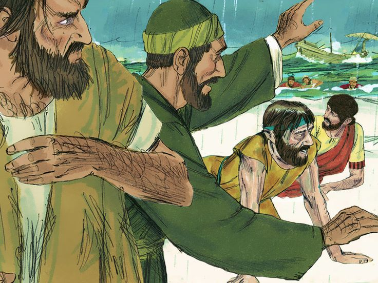 Paul is shipwrecked on his way to Rome. (Acts 27:1-44) – Slide 27