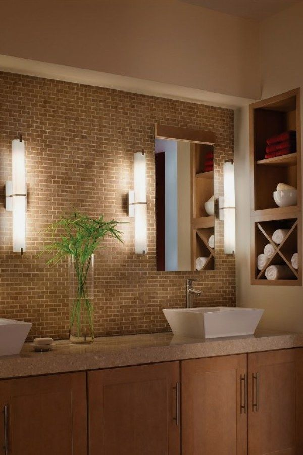 12 Awesome Bathroom Lighting Projects To Accent Your Bathroom In Your Apartment Contemporary Bathroom Lighting Modern Bathroom Light Fixtures Modern Bathroom