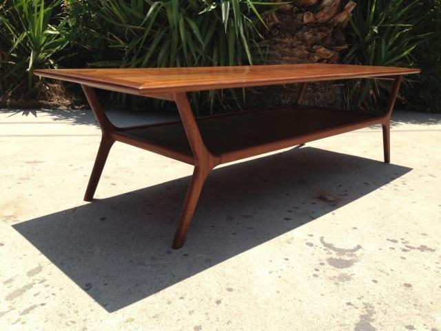 550 mid century modern walnut coffee table