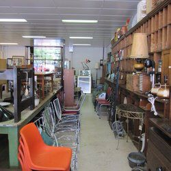 Inside curio warehouse.