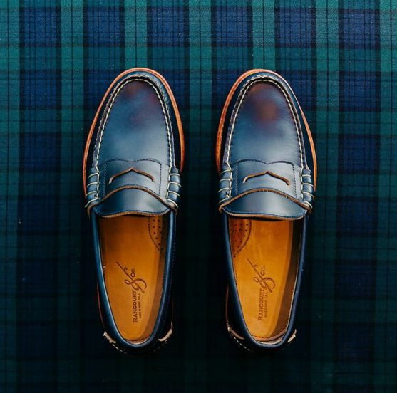 Rancourt's beefroll penny loafers, made in Maine. #Rancourt #Menswear #MensFashion
