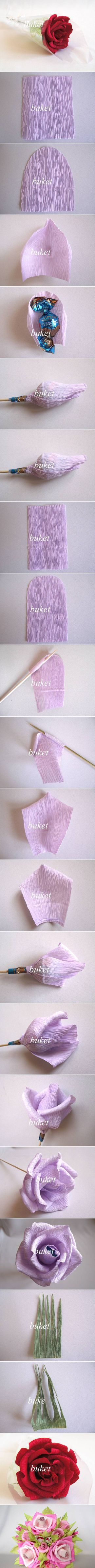 Bloem van crepe papier