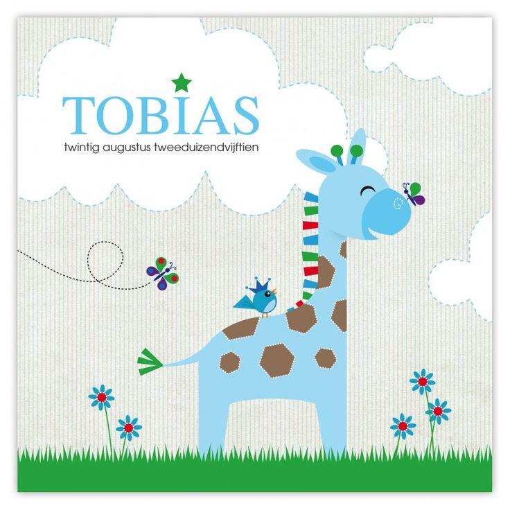 Geboortekaartje Giraf Tobias