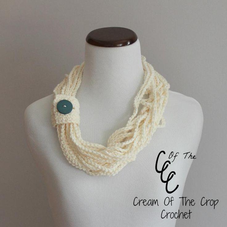 Cream of the Crop Crochet~Chain Scarf Pattern {paid #crochet pattern} #handmade
