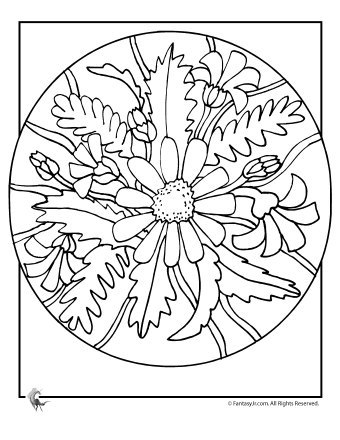 Flower Coloring Pages Summer Flowers Daisy Page Fantasy Jr