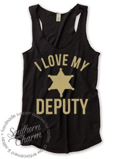 Southern Charm Designs - I Love My Deputy Badge Curve, $29.00 (http://www.shopsoutherncharmdesigns.com/i-love-my-deputy-badge-curve/)