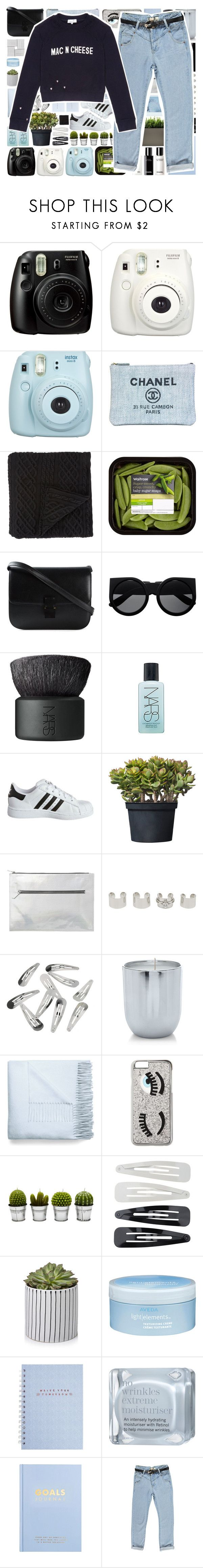 """Mac N Cheese"" by stelbell ❤ liked on Polyvore featuring Fujifilm, Chanel, Morgan Collection, CÉLINE, NARS Cosmetics, adidas Originals, Monki, Maison Margiela, Acne Studios and Chiara Ferragni"