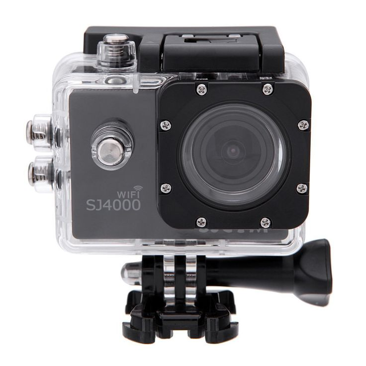 SJCAM Original SJ4000 WiFi Version Full HD 1080P 12MP Diving Bicycle Action Camera 30m Waterproof Car DVR Sports DV with Waterproof Case (Black) +1 Ba