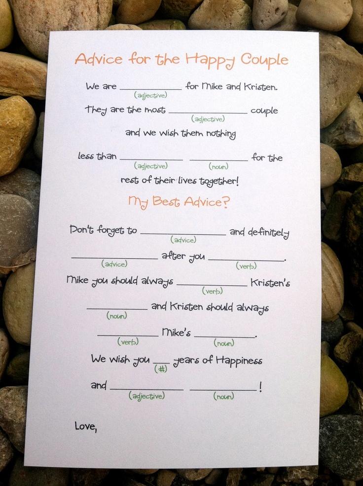 Very cute idea DIY Printable Wedding Mad