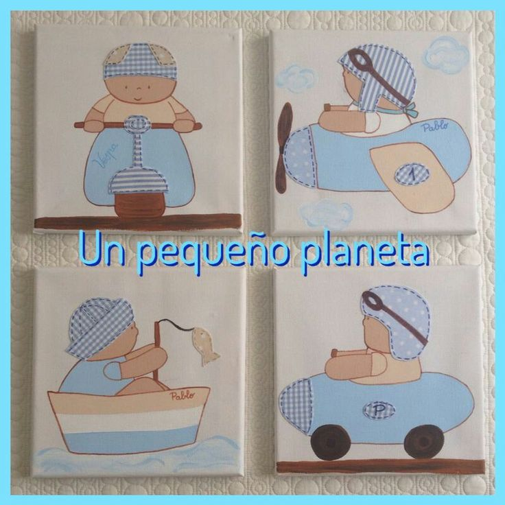 Composici n de lienzos infantiles de 20 20 ideales para - Lienzos para dormitorios ...