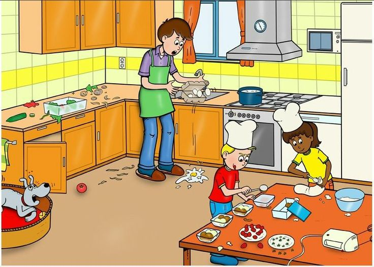 In de keuken praatplaat