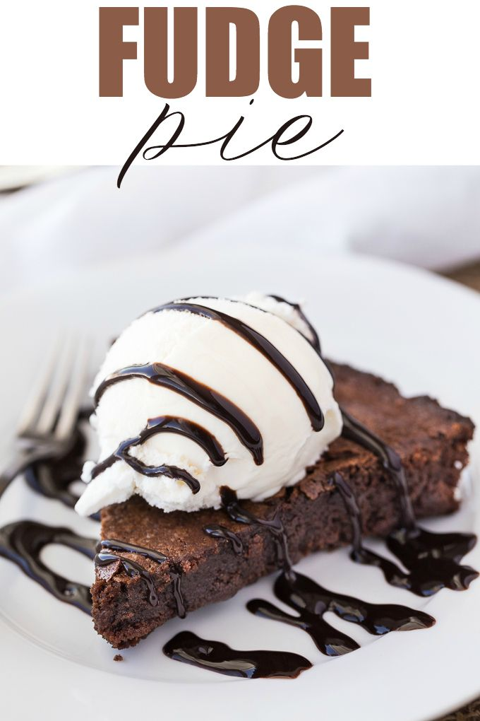 This Fudge Pie is sweet, chewy and full of luscious chocolate flavour. Serve with vanilla ice cream and chocolate sauce for a special dessert.