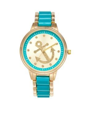 A Classic Time Watch Co.  Womens Turquoise Anchor Watch