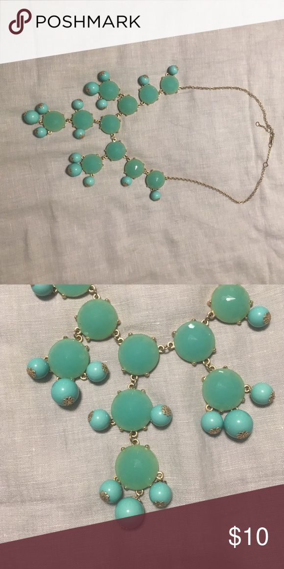 Turquoise bubble necklace Fun turquoise bubble necklace with gold chain.  Looks great with a plain top! Jewelry Necklaces