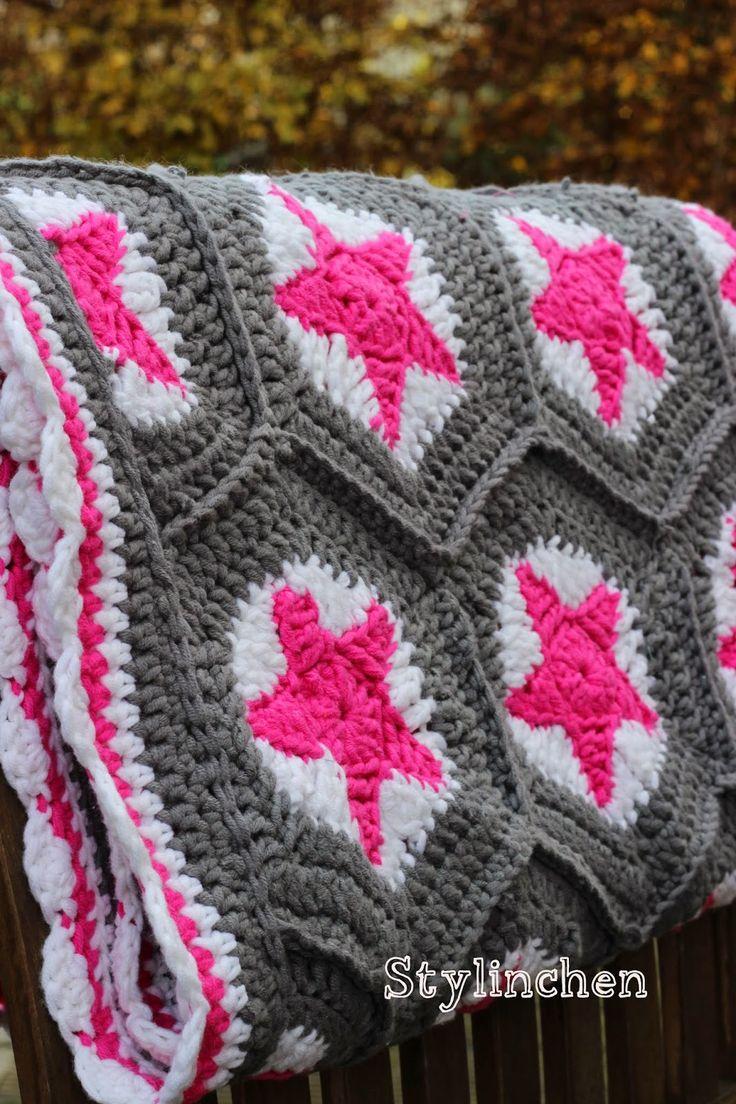 51 besten Crocheting: sternendecke Bilder auf Pinterest | Häkeln ...