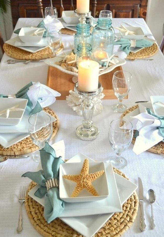 mesa estrellas blanco y verde