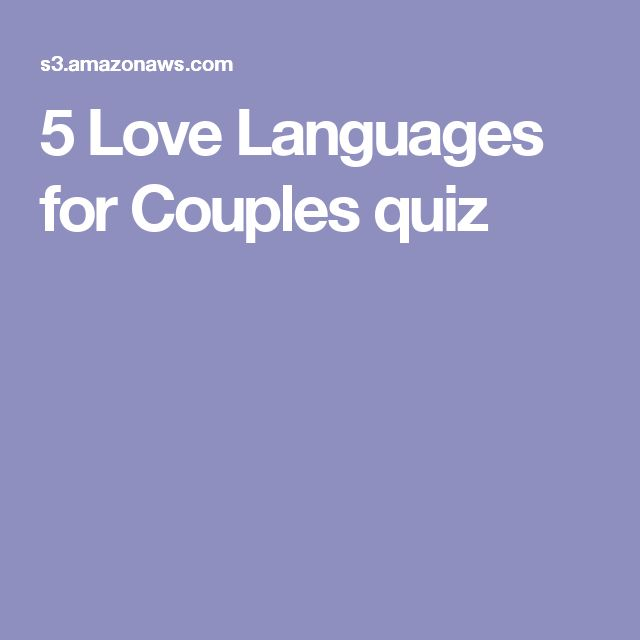 The 5 Love Languages Which One Are You QUIZ - Goodnet