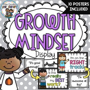 Growth Mindset Display:Teach your class to change their mindset and encourage…