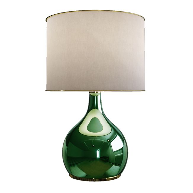 Colaba table lamp blown glass and brass lamps