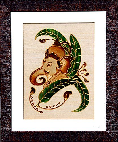 Ganesha: Banana Leaves. Coffee and Glass Colour with Gold Liner The artist picked up an conventional medium, the real COFFEE, to paint. Each painting coming out of her studio has been done on a Coffee stained paper and filled with COFFEE as well. She further evolved this style of painting by incorporating various kind of art & Craft, using colors and freshly prepared handmade dough to create a different line of relief painting, nick named, Dough Art; nonetheless The combination of many…