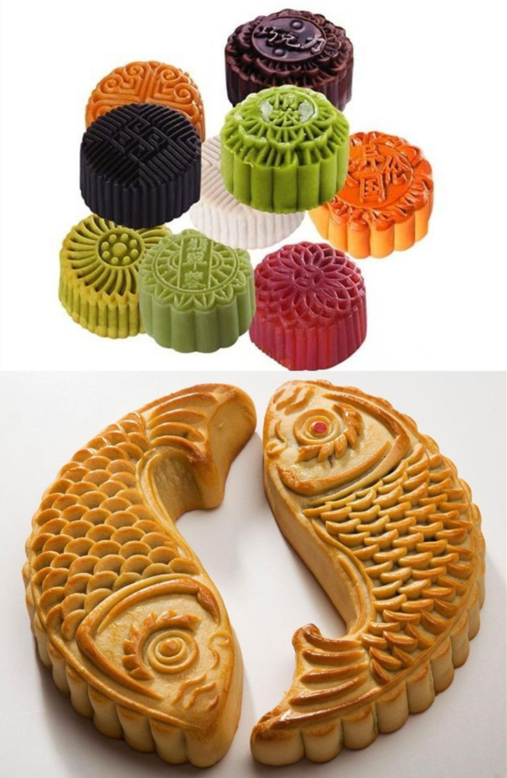 Chinese #mooncakes of various patterns, colors,and flavors for the forthcoming Mid-Autumn #Festival