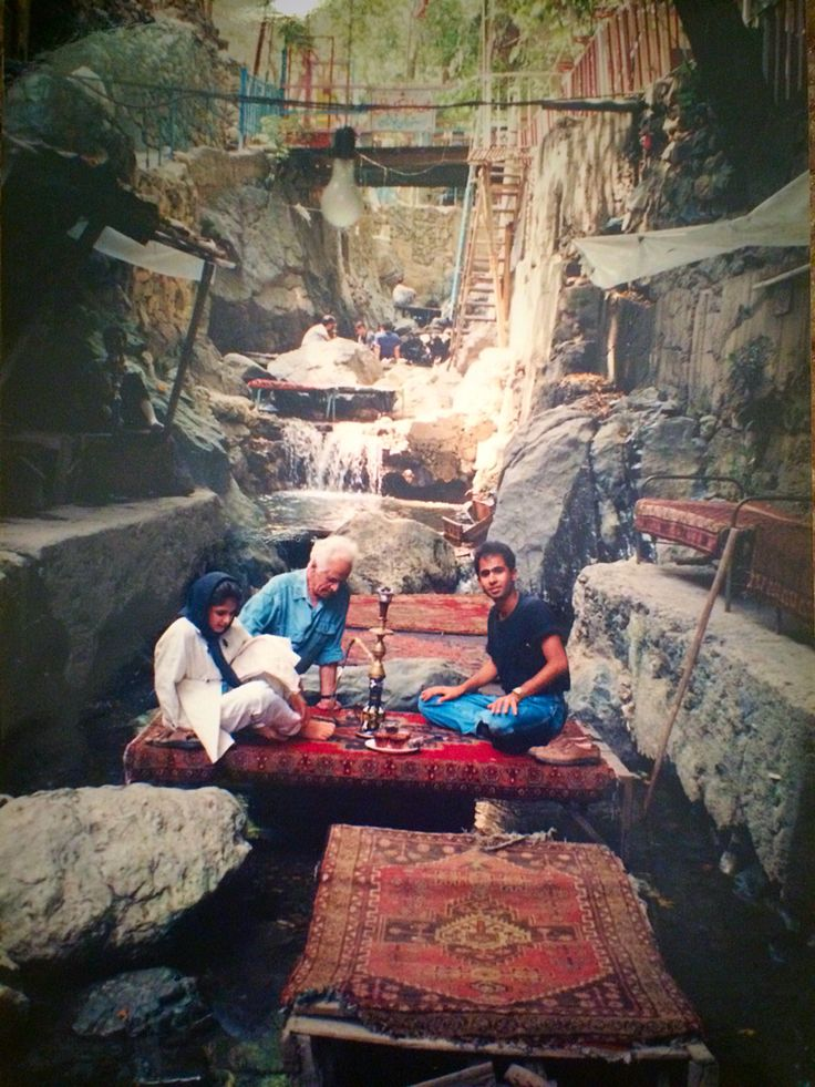 When my grandfather and uncle took me to Darband. A locals hangout in Iran.