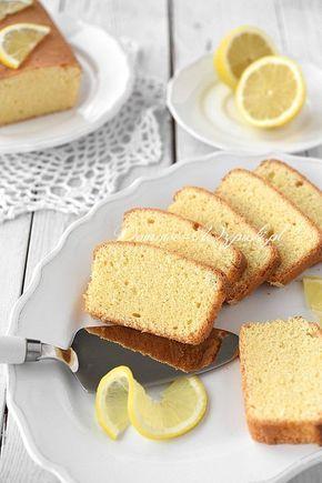 Cytrynowa babka bez glutenu, laktozy i cukru