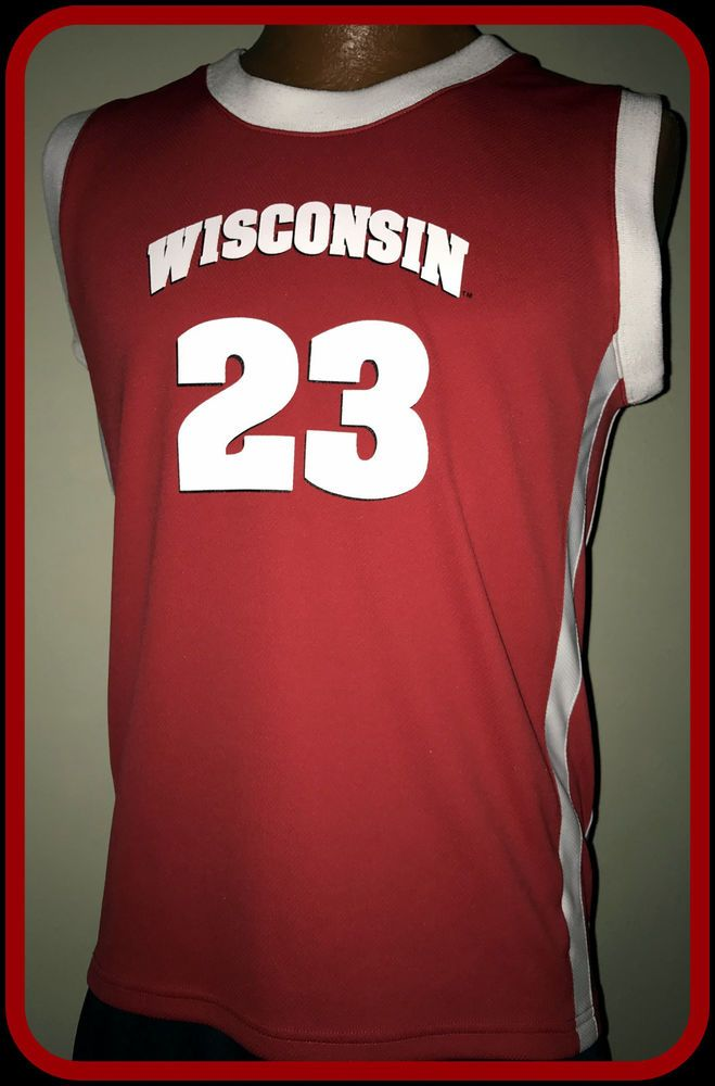 online store e33e1 13976 WISCONSIN BADGERS NIKE YOUTH MEDIUM BASKETBALL JERSEY #23 ...