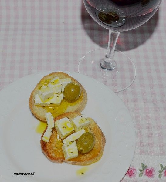 закуска оливки -фета