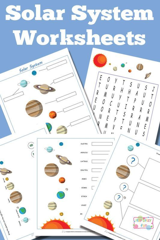 Solar System Worksheets for Kids